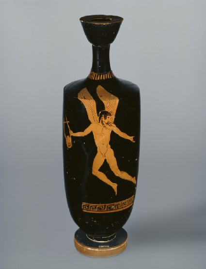 Attic red-figure lekythos depicting a mythological figure