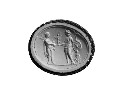 Intaglio gem, Ares and Tyche