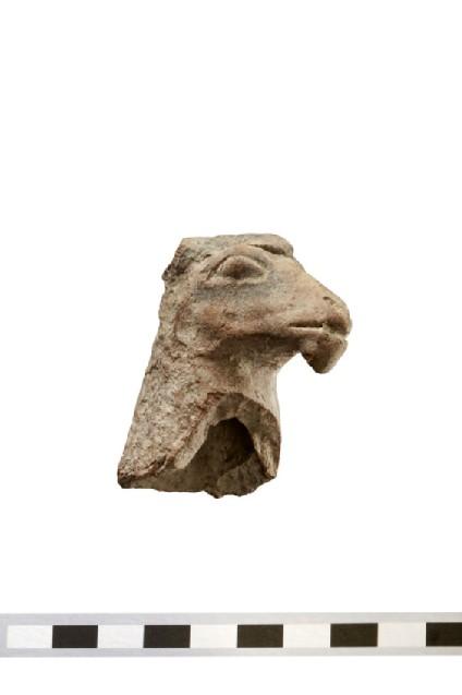 Ram or goat head of votive terracotta figurine
