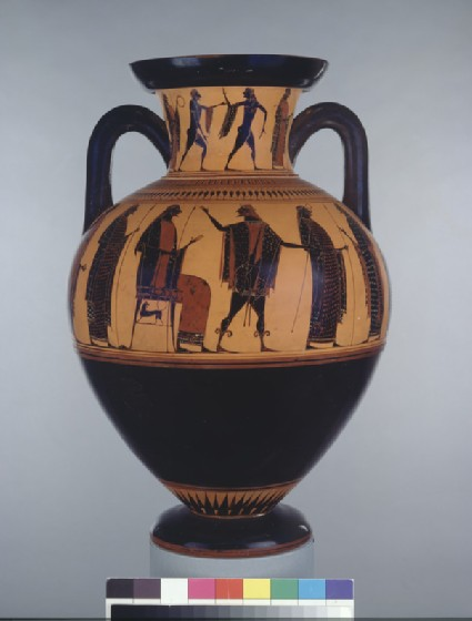 Attic black-figure pottery amphora