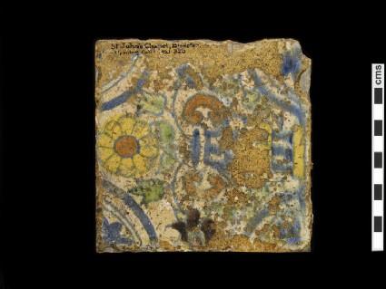Tin-glazed tile in Italian style