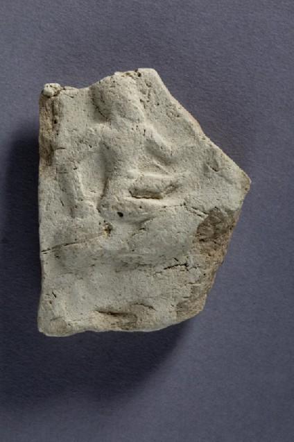 Plaque fragment rider on horseback