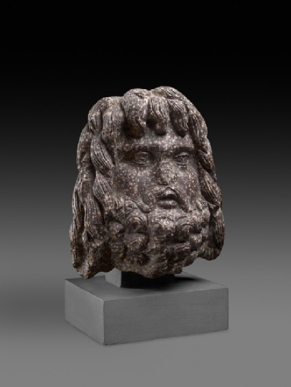 Egyptian porphyry head of Serapis
