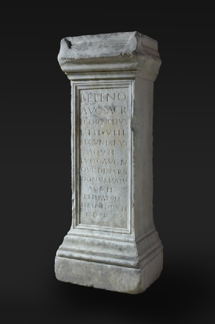 Altar with Latin inscription to Lucius Cornelius Secundinus