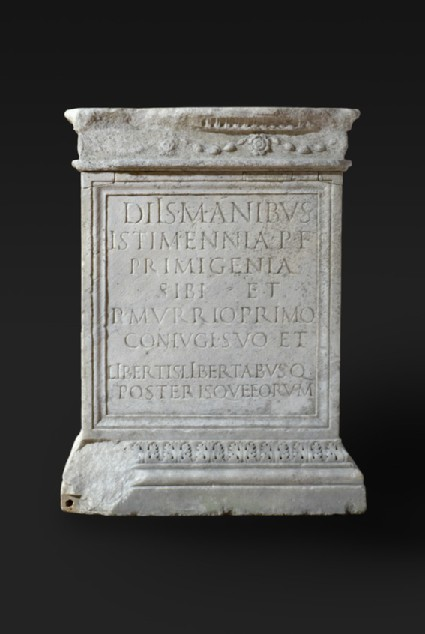Altar with Latin inscription