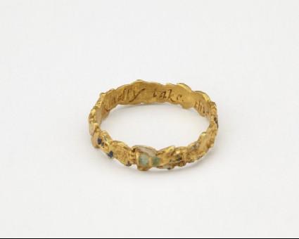 Gold posy-ring