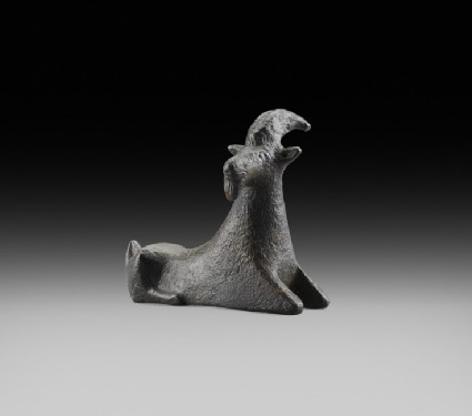 Greek Archaic bronze goat figurine