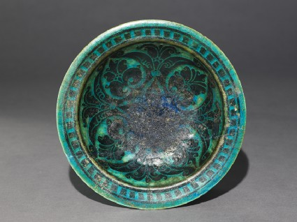 Footed dish with palmettes