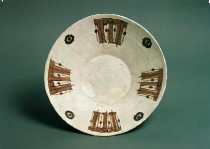 Bowl with pseudo-kufic inscription