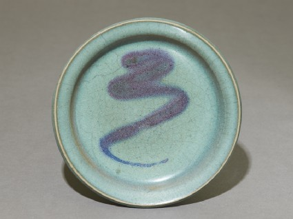Dish with purple splash