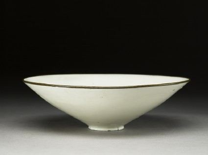 White ware bowl with floral decoration