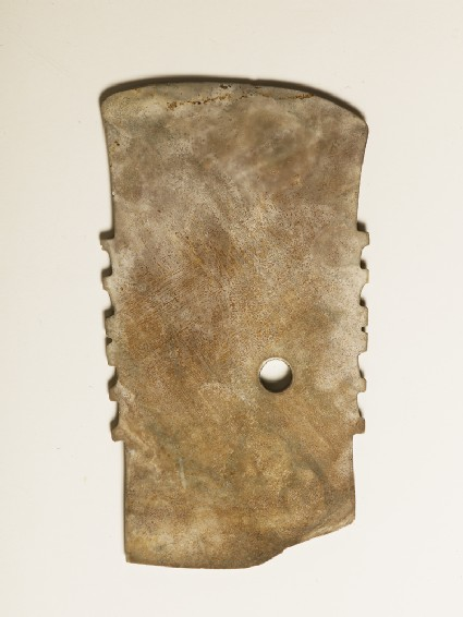 Notched ceremonial blade in imitation of a functioned axe