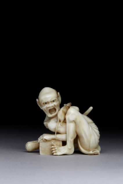 Netsuke in the form of the rat catcher