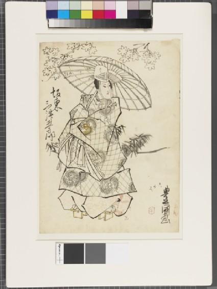 Shita-e (unde-drawing for a woodblock print)