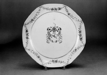 Plate with the arms of Sir George Preston of Valleyfield House, Perth, Scotland