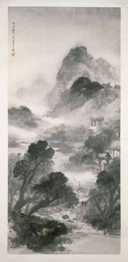 Landscape with a figure and buildings