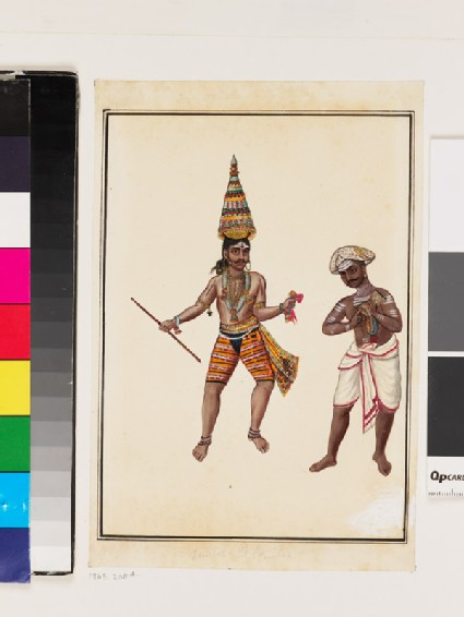 Pair of male temple dancers