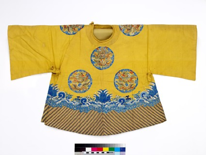 Child's coat with dragon roundels and waves