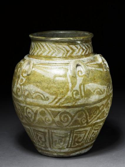 Jar with animal frieze