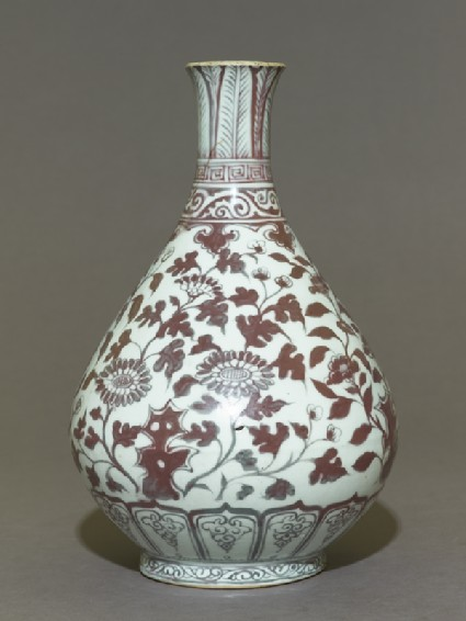 Vase with floral decoration