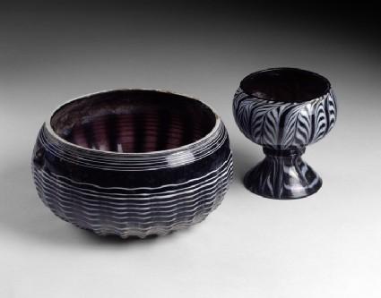 Marvered glass bowl