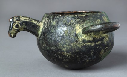 Bowl or ladle with horse's head