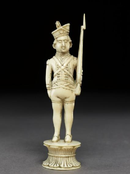 Ivory pawn chess-piece