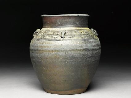 Brown glazed jar