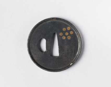 Round tsuba with design of a constellation