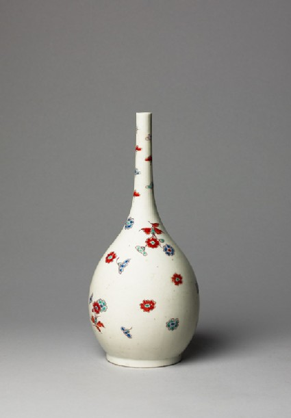 Bottle with floral sprays