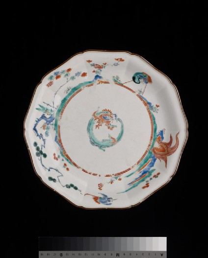 Foliated plate with dragon