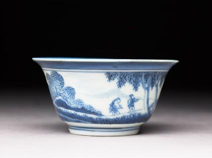 Bowl with 'Deshima Island' theme