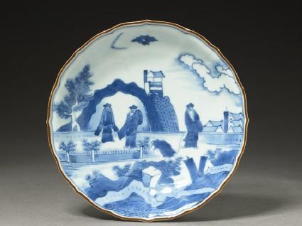 Foliated plate with 'Deshima Island' theme
