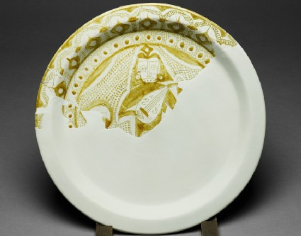 Fragmentary dish with figure of a musician