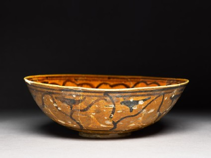 Bowl with stems and leaves