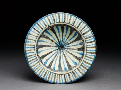 Dish with stripes