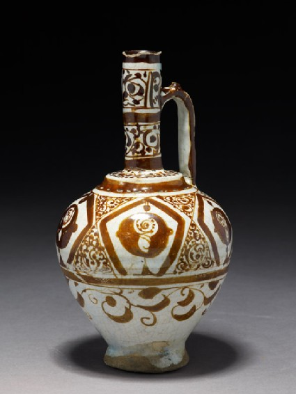 Ewer with stylized flowers