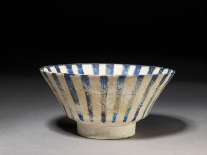 Bowl with blue stripes