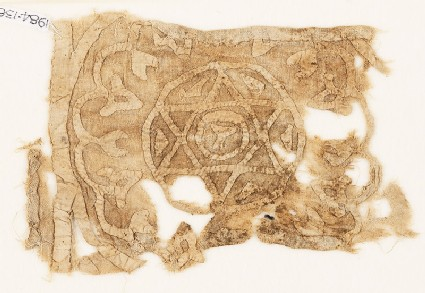 Textile fragment with roundel, star, and chalice