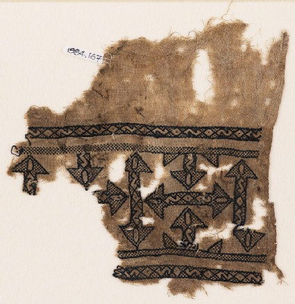 Textile fragment with arrows