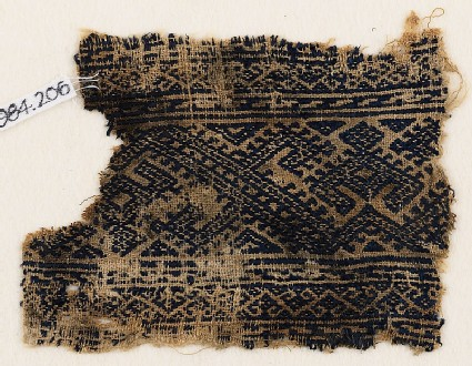 Textile fragment with linked hooks