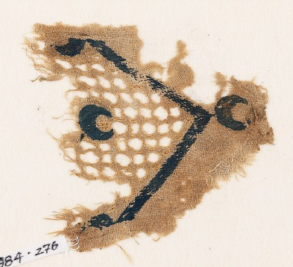 Textile fragment with crescents