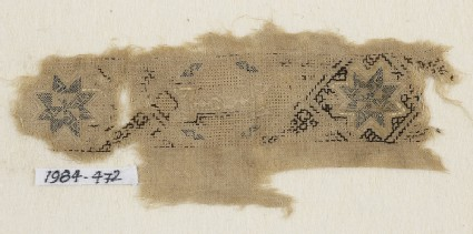 Textile fragment with band of stars