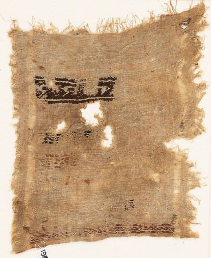 Sampler fragment with bands containing S-shapes