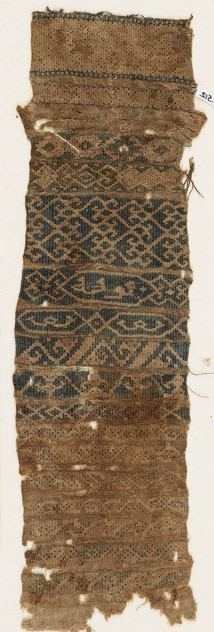 Textile fragment, possibly from a sash or belt