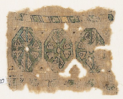 Textile fragment with three octagons