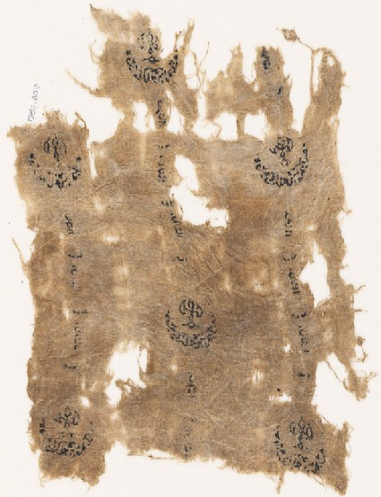 Textile fragment with three rows of crescents