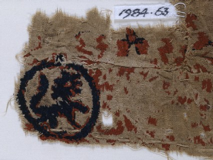 Textile fragment with lions