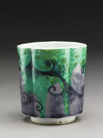 Sake cup with abstract design