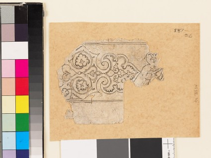Fragmentary drawing with palmette
